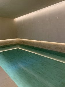 Swimming Pool Types - Skimmer Pool - Luxury Tiles - Key Steps indoor Pool