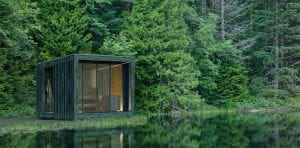 Luxury Outdoor Sauna In Front Of A Lake - Nature Sauna Collection