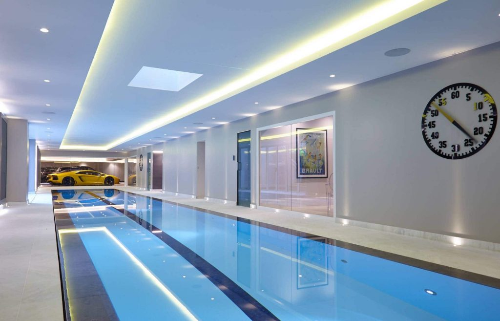 Luxury Indoor Deck Level Swimming Pool